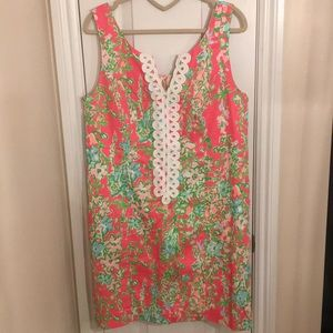 EUC Lilly Pulitzer Pink Southern Charm Shift Dress